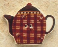 43095 - Teapot with Plaids & Bees - 1 1/4in x 1in